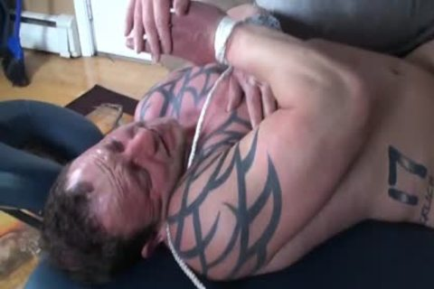 big Bodybuilder bound And Tickled - Wesley steel