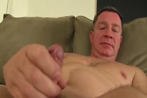 daddy naked guy Fingering His booty And Jacking Off