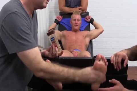 Muscled Johnny acquires Tickled In His Pits And Sole By The 3some