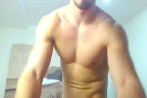 Bearded Hunk Cums supplementary Hard With An OhMiBod Up His arse