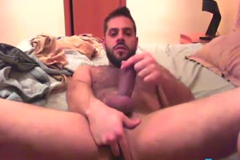 Bearded guy Fingers His arsehole previous to that guy Cums