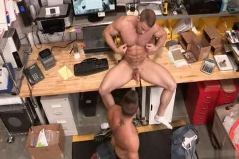 Muscle Bear ass ass pounding With cumshot