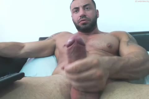 Arab Manbeast Edges His large cock