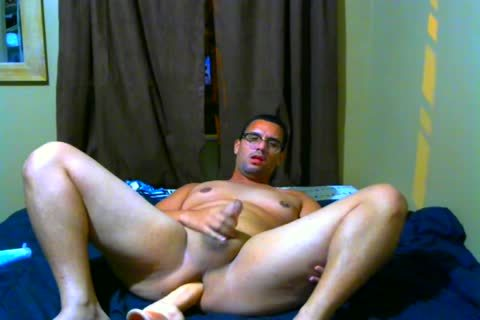 wild Latino chap boned In ass With thick sextoy