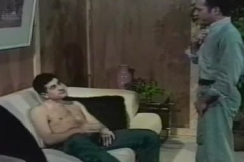 Two boys receiveting bawdy on the daybed