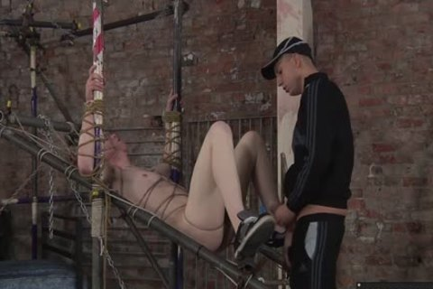 tied Up bondman Leo gets His a-hole nailed By lustful Deacon