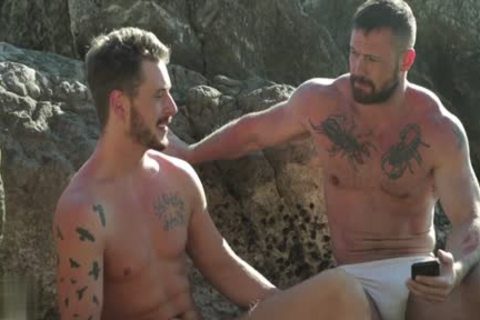 Muscle homosexual Outdoor And cumshot