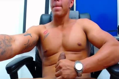 Flirt4Free Latino dude discharges A Load From His Monster wang