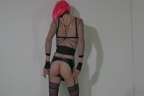 lusty Crossdresser Partying At Home In excited Outfit