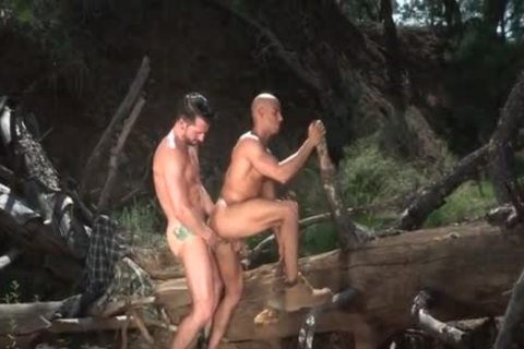 Tattoo Bodybuilder Outdoor Sex And sperm Flow
